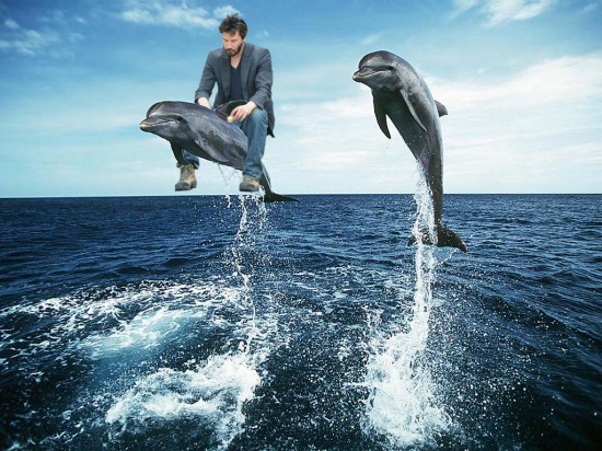 FACT: Keanu Reeves once rode a dolphin named Marcus from England to Vietnam