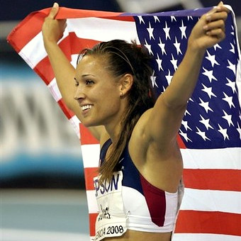 lolo jones cheering